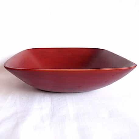 Saladier Marron En Bambou 20x20 Cm