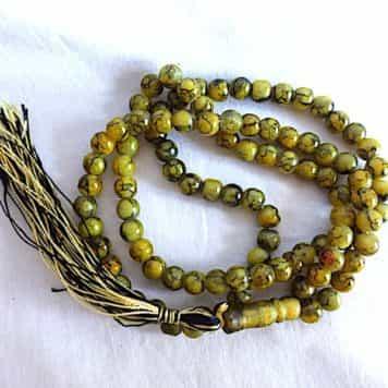 Misbaha Jaunes Touches Noires 99 Perles