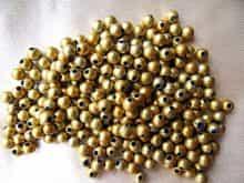 Perle ronde dorée 5,58 mm