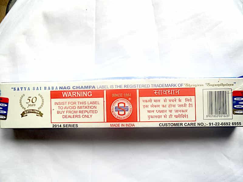 Encens Nag Champa Agarbatti 15 G. Inde