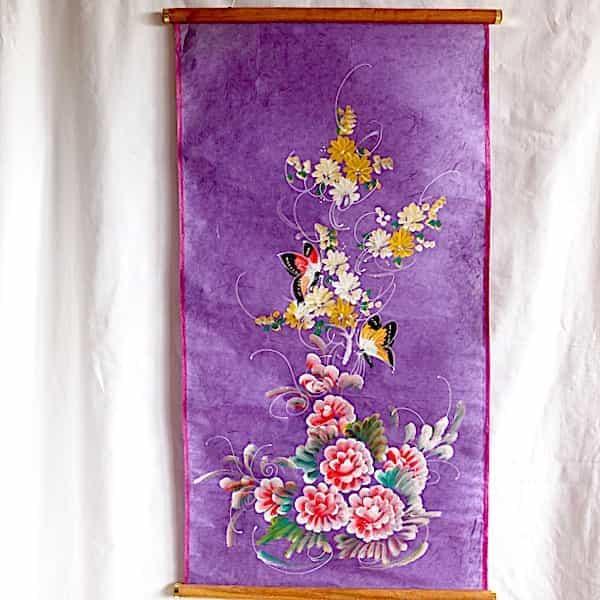 Rouleau Vertical Violet Papillons 87x49