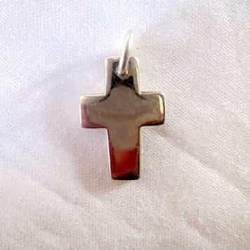 Croix Latine En Argent 92 % H.2cm