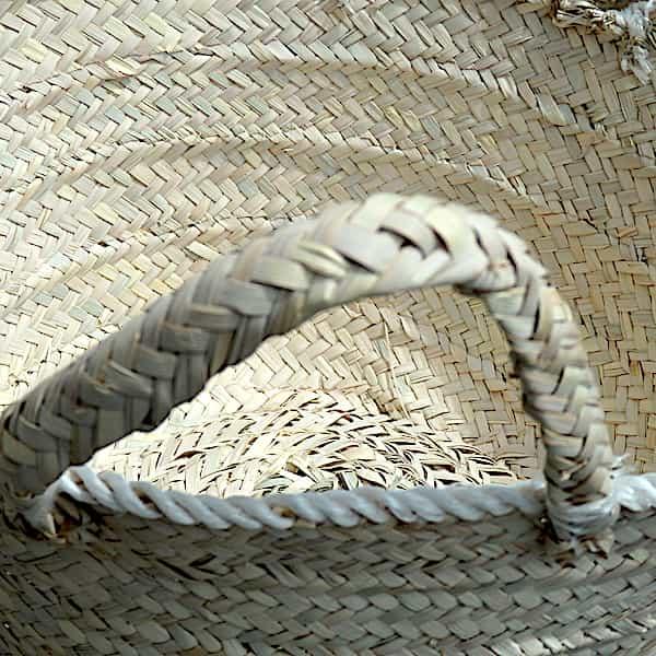 Panier Tressé De Paille De Palmier Naturel 49x21 1