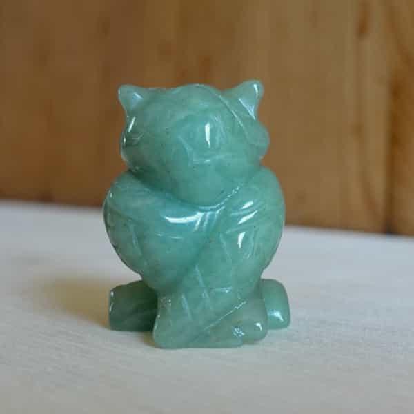 hibou jade de birmanie vert 30 gr h.4 cm (2)