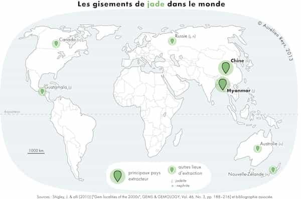 gisements de jade dans le monde