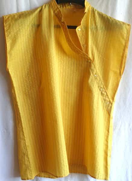 haut ensemble sans manche et pantalon bouffant jaune 38