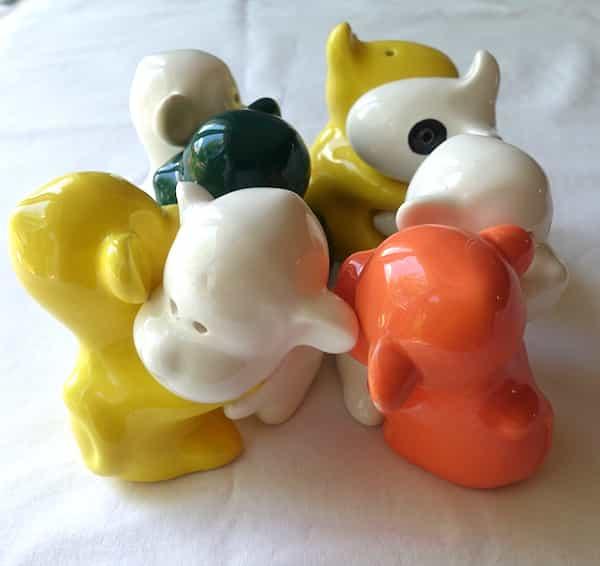 salières poivrières chiens céramiques choix de couleurs