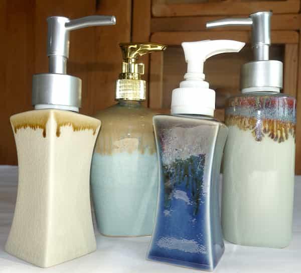 flacon céramique couleurs distributeur de savon