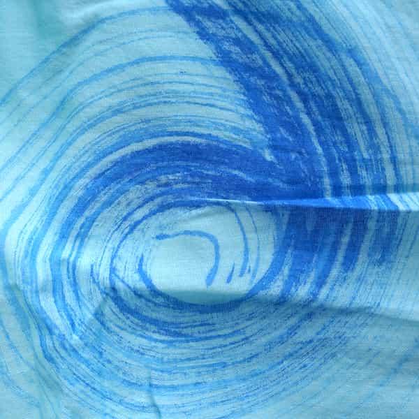 foulard en coton bleu clair dessins camaïeu bleus 1